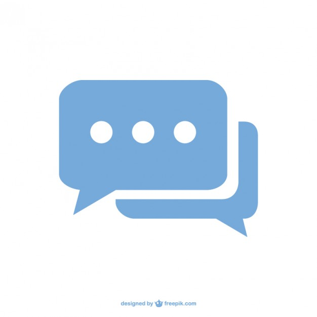 Chat Speech Bubble Icon Free Vector