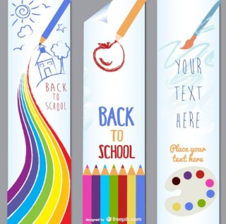 Children Lovely Painting Theme Material Free Vector