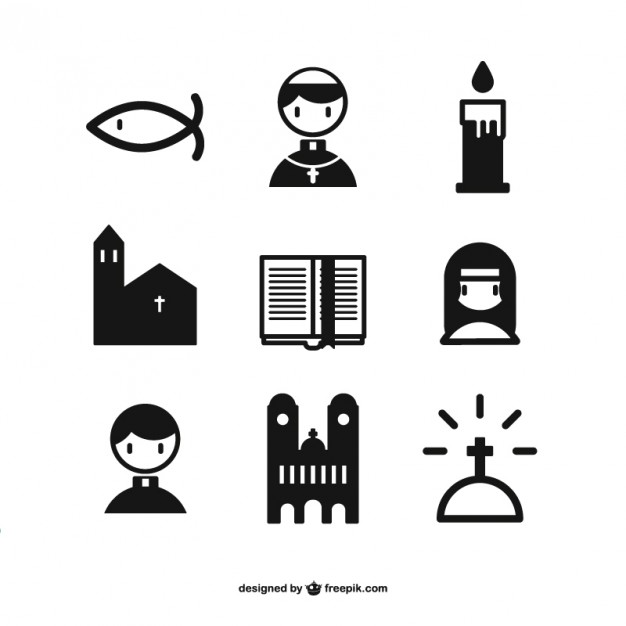 Christian Icons Collection Free Vector