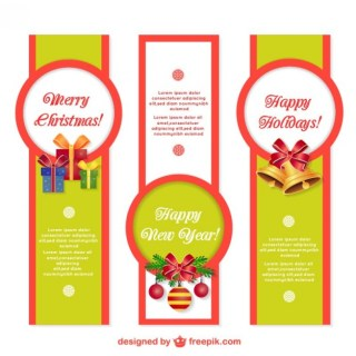 Christmas Banner Templates Free Vector