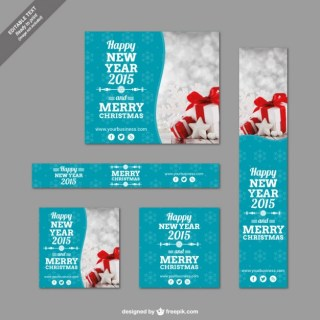 Christmas Banner Templates Pack Free Vector