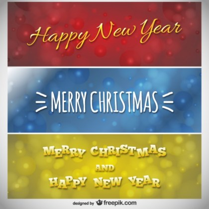 Christmas Banners Pack Free Vector