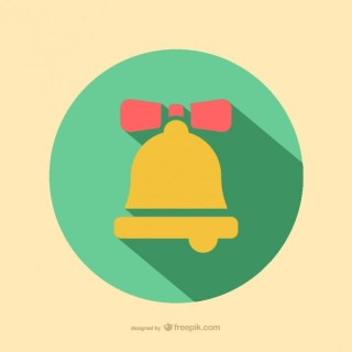 Christmas Bell Icon Free Vector