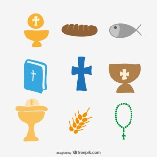 Church Icons Drawing Free Vector