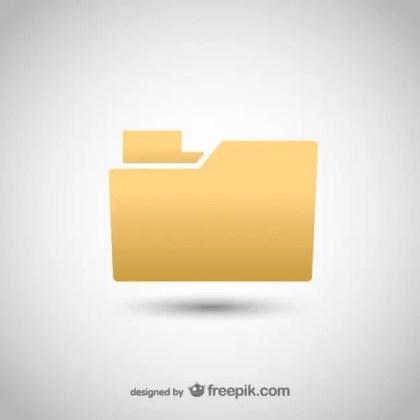 Classic Folder Icon Free Vector