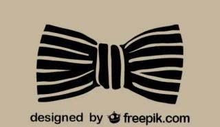 Classic Retro Fashion Bowtie Icon Free Vector
