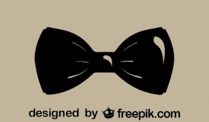 Classic Style Fashion Bowtie Icon Free Vector