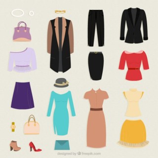 Clothes Collection for Woman Free Vector