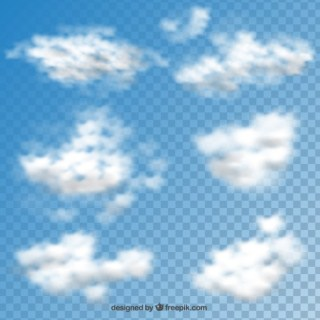 Clouds Collection Free Vector