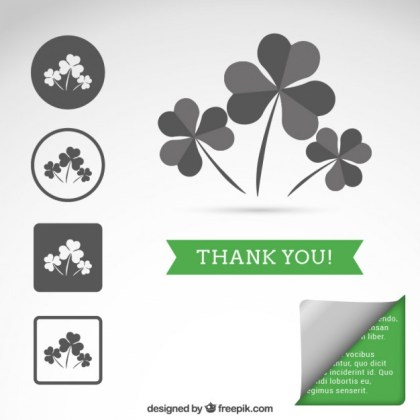 Clover Icons Free Vector