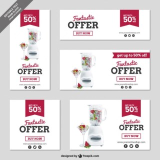 Cmyk Discount Banners Free Vector