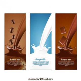 Coffe Milk and Chocolate Free Vector