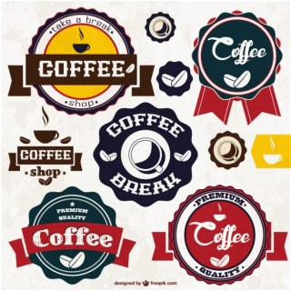 Coffee Stickers Free Vector