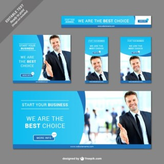 Collection of Business Banners Free Vector