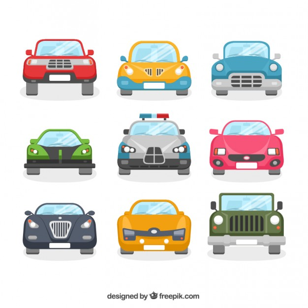 Collection of Cars Free Vector