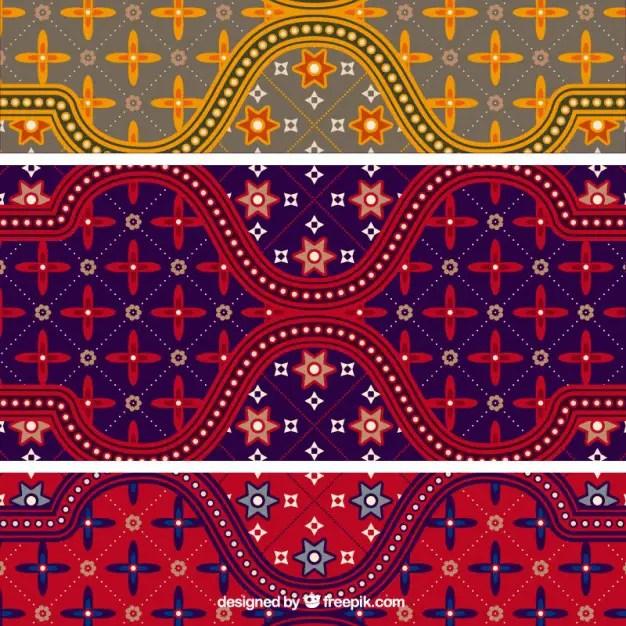 Free Indonesian Batik Pattern Vector