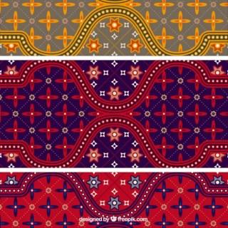 Colorful Batik Pattern Illustrator Free Vector