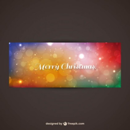 Colorful Merry Christmas Banner Free Vector
