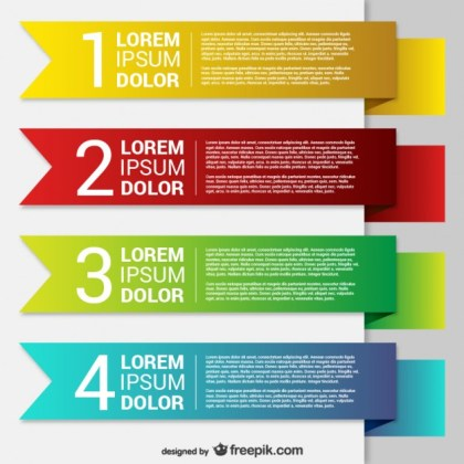 Colorful Origami Banner Templates Free Vector