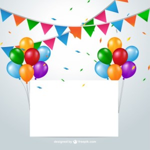 Colorful Party Decoration Free Vector