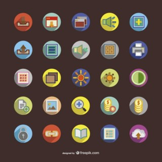 Colorful Round Icons Free Vector