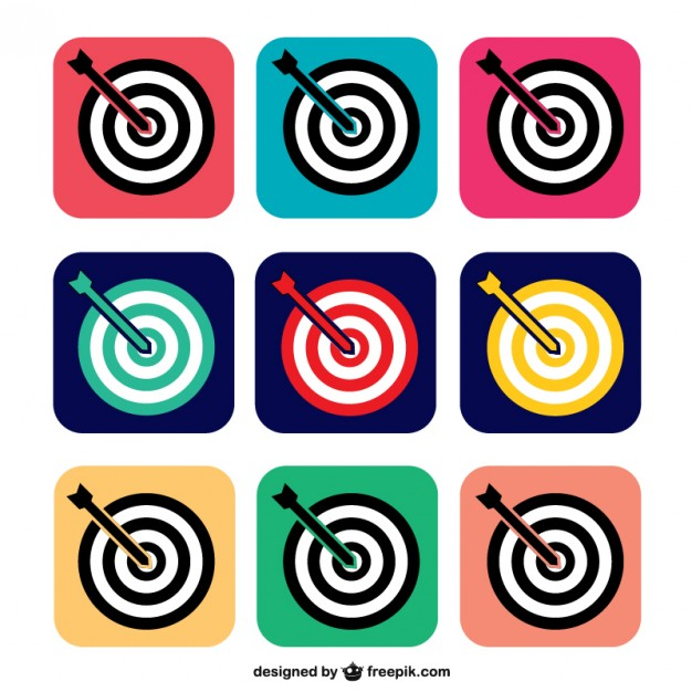 Colorful Target Icons Free Vector