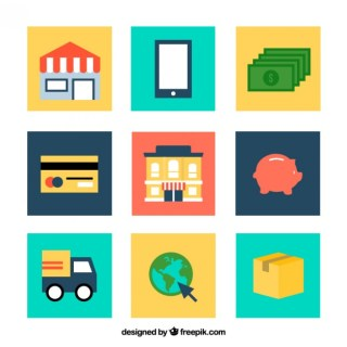 Commerce Icons Free Vector