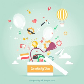 Creativity Box Free Vector