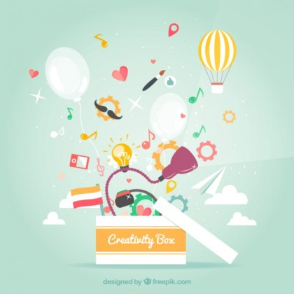 Creativity Box Free Vector
