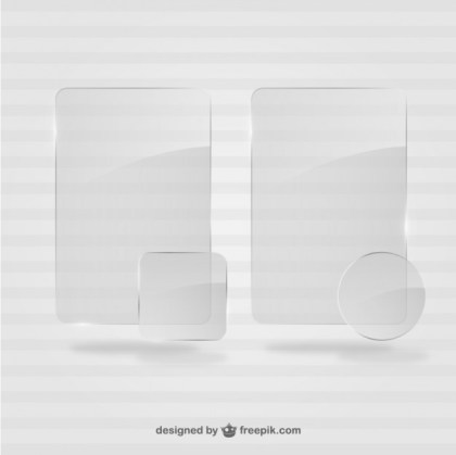 Crystal Frames Template Free Vector