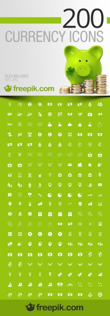 Currency Icons Pack Free Vector