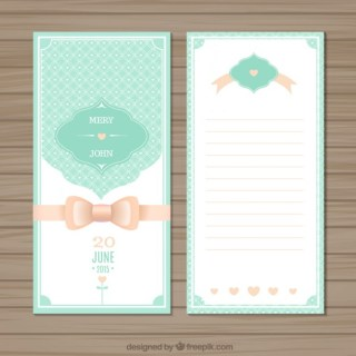 Cute Wedding Invitation Free Vector