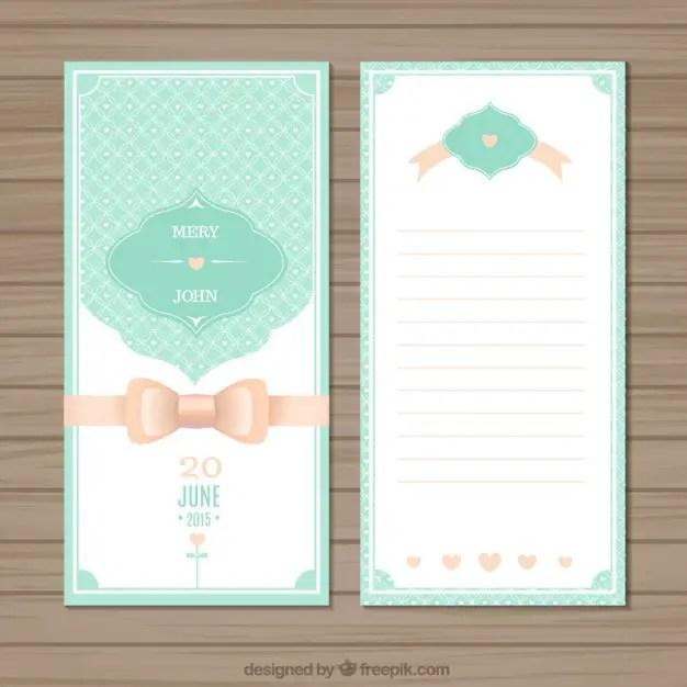 Cute Wedding Invitation Free Vector