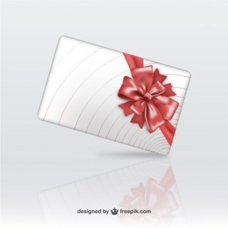 3D Gift Box with Red Ribbon Free Vector