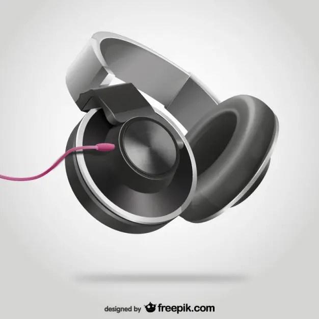 Headphones Wallpaper: Vector Headphones Free Vector