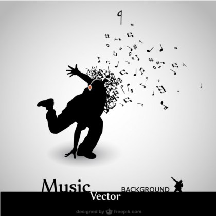 Dance Music Background Free Vector