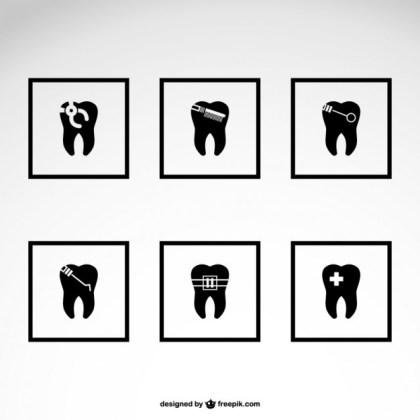 Dentist Icons Free Download Free Vector