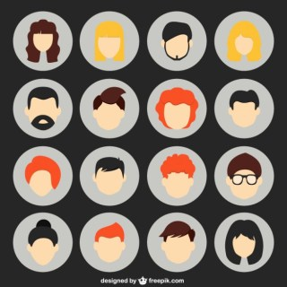Different Human Avatars Free Vector