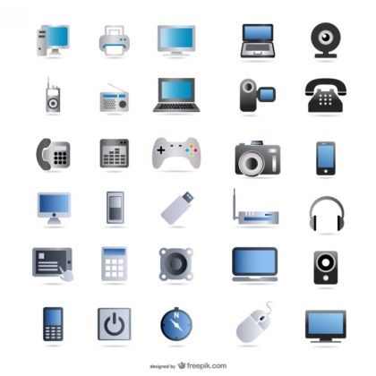Digital Technology Product Icon Material Free Vector