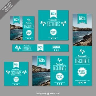 Discounts Banners for Travelling Free Vector