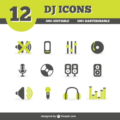 Dj Icons Free Vector
