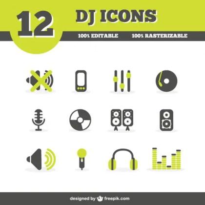 Dj Icons Free Vector