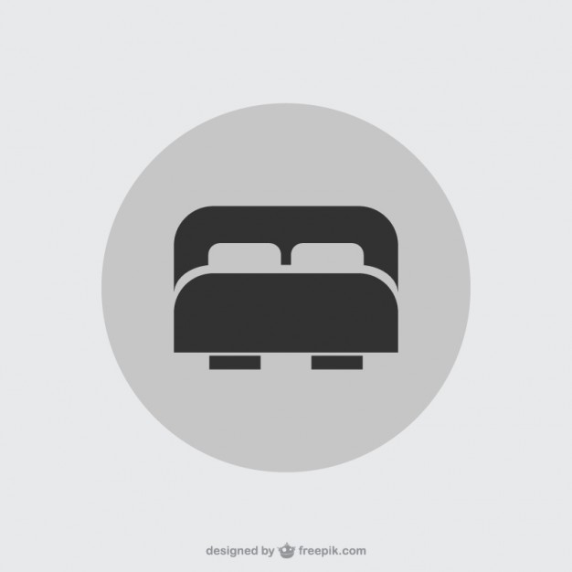 Double Bed Icon Free Vector