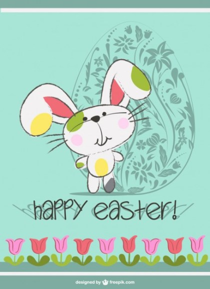 Easter Bunny Cute Cartoon Free Vector