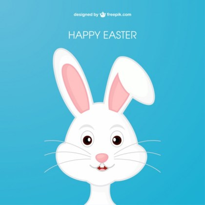 Easter Bunny in Cartoon Style Free Vector