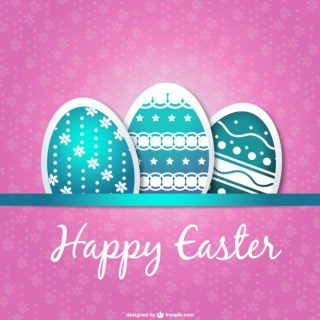 Easter Card Eggs Design Free Vector