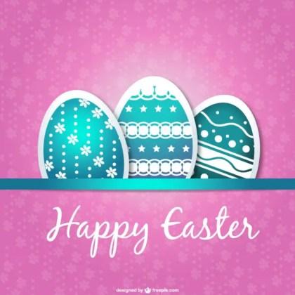 Easter Card Eggs Design Free Vector