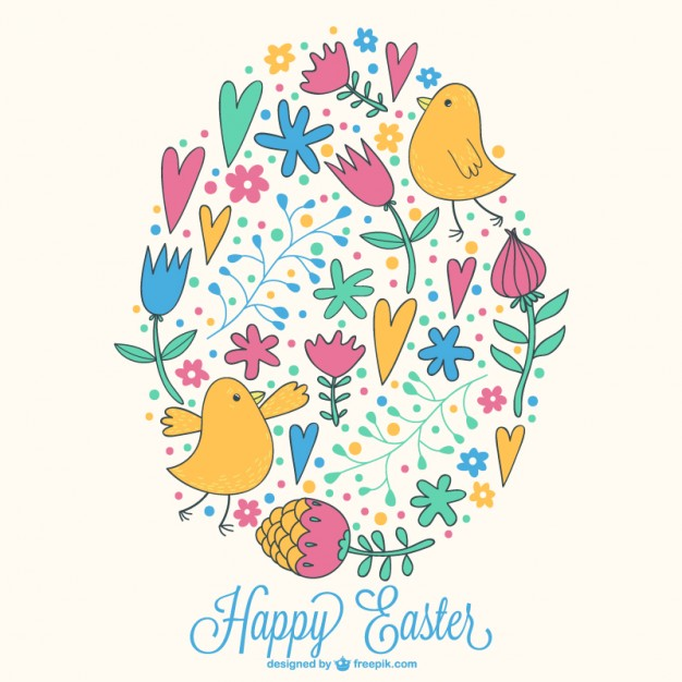 Easter Drawing Free Vector