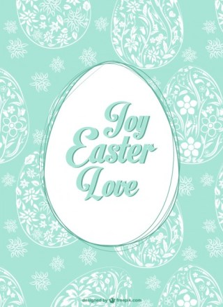 Easter Egg Pattern Free Vector