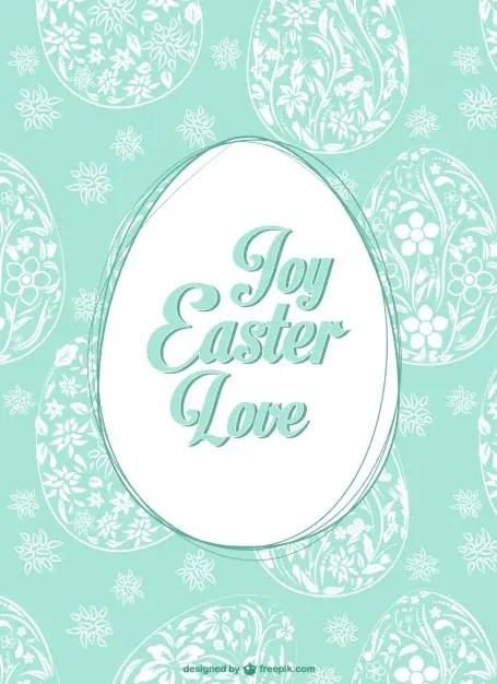 Easter Egg Pattern Free Vector